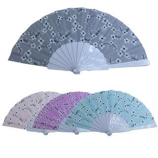 Textilfächer mit Plastikstreben 4 Farben, 23cm VP12
