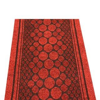 Teppichläufer Kunstfaser rot Cork 40  B/L 67 / 2500cm