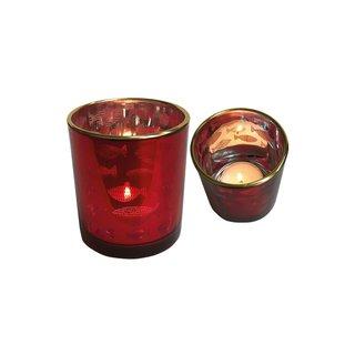 Teelichthalter Glas Fisch 12er gr.