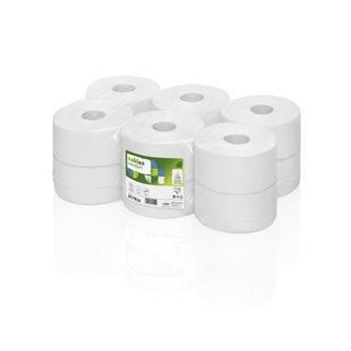 Toilettenpapier Rollen weiß 2-lagig 380m
